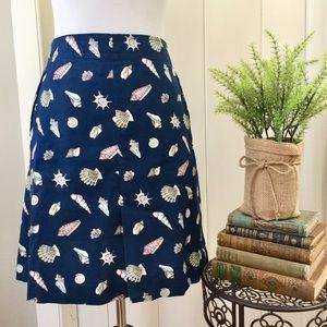 TALBOTS Navy Nautical Seashell Pencil Skirt
